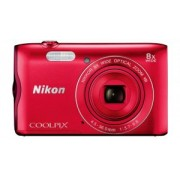 Nikon Coolpix 09N-A300-RED Digital Camera - Red