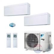 Daikin Duo Split 2.5+2.5 +5.0 kW Stylish Wit Air Conditioner WiFi R-32 FTXA25AW +FTXA25AW +2MXM50M A+++/A++ 9+9 Btu