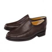 Deerskin Slip-Ons, 9 - Brown
