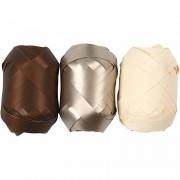 Vivi Gade Presentband, B: 10 mm, 3x10 m, brun, metallicbrun, ljusnatur
