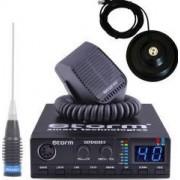 Pachet statie radio CB Storm Defender PRO-version + antena radio CB Megawatt ML145 si baza magnetica