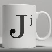 Alphabet Ceramic Mug - Letter J
