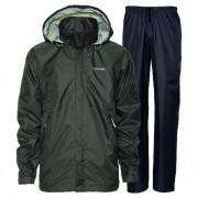 Didriksons Tigris Unisex Rainwear / Anoraks Set Top & Bottom Dark Green 548175