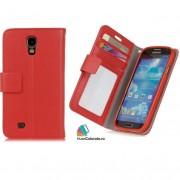 Toc Portofel Piele Ecologica Samsung i9500 Galaxy S4 Rosie