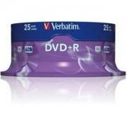 DVD+R Verbatim Matt Silver 120min./4,7Gb 16X - 25 бр. в шпиндел