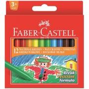 Creioane colorate cerate 12 culori/set FABER-CASTELL