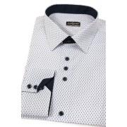 Košile SLIM bílá s čárkami Avantgard 125-0163-37/38/182