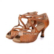 Aanpasbaar-Dames-Dance Schoenen(Zwart / Bruin / Grijs) - metWijd uitlopende hak- enBuikdans / Latin / Jazz / Danssneakers / Modern /