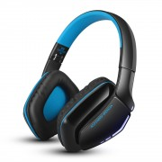 KOTION EACH B3506 Foldable Bluetooth V4.1 Gaming Headphone with Mic - Black / Dark Blue
