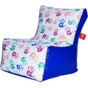 Comfy Bean Bags - Bean Chair Bean Bag - Printed - Size Xxl - Filled With Beans Filler ( Hand Print )