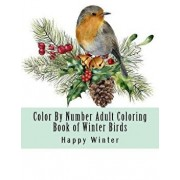 Color by Number Adult Coloring Book of Winter Birds: Winter Bird Scenes, Festive Holiday Christmas Winter Birds Large Print Coloring Book for Adults, Paperback/Happy Winter