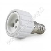 ADATTATORE PER LAMPADINE DA E14 A GU10 -MELPA1410