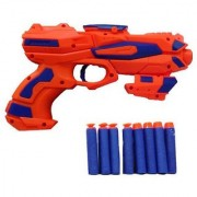 Space War Soft Bullet gun with 8pcs soft Bullet gun for kids (RED AND Blue)(COLORS May Vary)