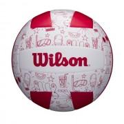 Minge volei Wilson Seasonal Summer, marime 5, alb/rosu