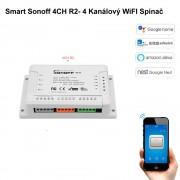 Smart Sonoff 4CH R2- 4 Kanálový WiFI Spínač