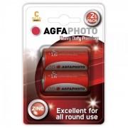 Solight Zinková baterie AgfaPhoto R14/C, 1,5 V blistr 2 ks