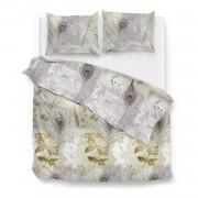 Zo!Home Nakul dekbedovertrek - 1-persoons (140x200/220 cm + 1 sloop) - Katoen satijn - Natural