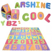 (US STOCK) Arshiner ABC Alphabet Number Interlocking Foam Puzzle Play Mat Large Safety Floor Rug for Baby Kids