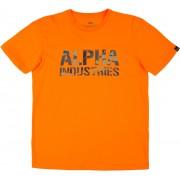 Alpha Industries Camo Print T-Shirt Orange L