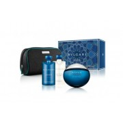 Bvlgari Aqva Atlantiqve Gift Set-EDT 100ml + Shower Gel 75ml + AS Balm 75ml + Pouch за мъже