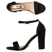 Billini Womens Aurella Heel Black Suede
