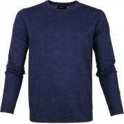 Profuomo Pullover O-Ausschnitt Blau - Blau Größe XXL