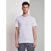 TOM TAILOR T-Shirt met tekening, white diamond palm tree design, XXXL