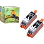 Ink Hero - 2 Zwarten - Inktcartridge / Alternatief voor de Canon CLI-36, PGI-35, PIXMA iP100, iP110 wb