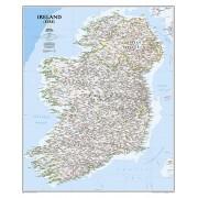 Wandkaart Ireland – Ierland, 76 x 91 cm | National Geographic