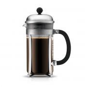 Bodum CHAMBORD® Cafetière à piston, 8 tasses, 1.0 l, acier inox Mat