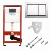 Set PROMO rezervor incastrat cu cadru si clapeta cromata TECE Base ,4 in 1 -9400006