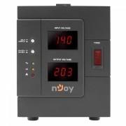 Stabilizator de tensiune AVR nJoy Akin 3000, 3000VA, 230V, 50Hz, 2400W, 1 x priza tip Schuko, 1 x priza IEC 19, Negru