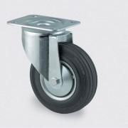 TENTE Transportní kolečko s krytem 100 mm, otočné, černá guma