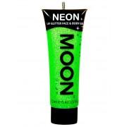 Vegaoo Kropps och ansiktsgel i neongrönt från Moonglow® 12 ml One-size