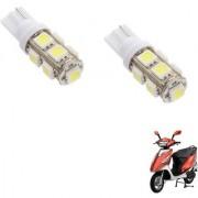 Auto Addict Scooty T10 9 SMD Headlight LED Bulb for Headlights Parking Light Number Plate Light Indicator Light For TVS Streak