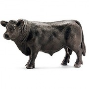 Schleich Black Angus Bull Toy Figure