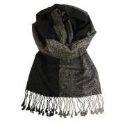 Santorino kašmírový šál černá