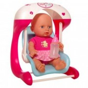 Set bebe cu leagan Mini Baby roz