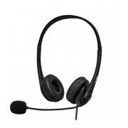 Astrum HS750 Call center USB fejhallgató állítható zajszűrős mikrofonnal, bőr fülpárnákkal