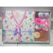 New Born Baby Gift Set With 6 Items (Pink)