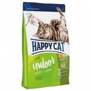 Happy Cat Indoor Adult con cordero de pasto - Pack % - 2 x 4 kg