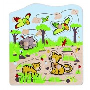 Hape Eco Toys / Wooden Knob Puzzle Jungle Animals