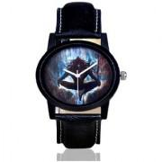 Lava CreationSport Round Mhakal Design Dial Black Leather Strap Analog Watch For Men ( Sport mahakal )