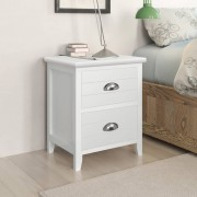 vidaXL Nightstand 2 pcs with 2 Drawers White