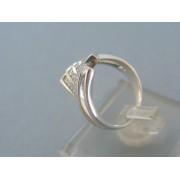 Zlatý prsteň biele zlato kamienky do kosoštvorca DP51345B