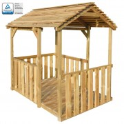 vidaXL Outdoor Pavilion Playhouse 122.5x160x163 cm FSC Pinewood