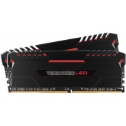 Memorii Corsair Vengeance LED Red DDR4, 2x8GB, 2666 MHz, CL 16