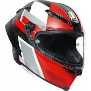 AGV Pista GP RR Competizione Carbon Capacete Preto Branco Vermelho L