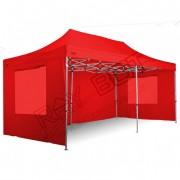 ray bot Gazebo pieghevole 3x6 rosso Exa 45mm alluminio TOP senza laterali PVC 350g