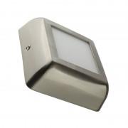 MoonLed - Plafon LED de teto quadrado 12x12x4cm 6W prateado - MoonLed